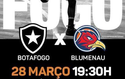 Amanhã tem jogo de basquete, Botafogo X Blumenau!