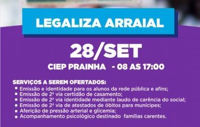 ARRAIAL SE PREPARA PARA MEGAEVENTO EM PARCERIA COM O GOVERNO DO ESTADO.